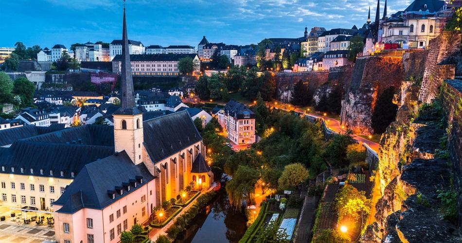 luxemburgo-ao-anoitecer